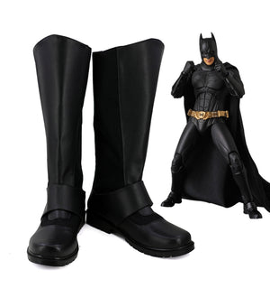 Batman Bruce Wayne Cosplay Shoes Boots Custom Made for Adult Men and Women