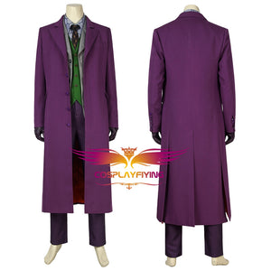 DC Comics Batman:The Dark Knight Joker Cosplay Costume Full Set with Mask for Halloween Carnival