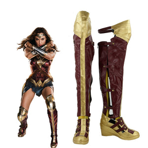 Batman v Superman: Dawn of Justice Wonder Woman Diana Prince Cosplay Shoes Boots Custom Made for Adult Men and Women