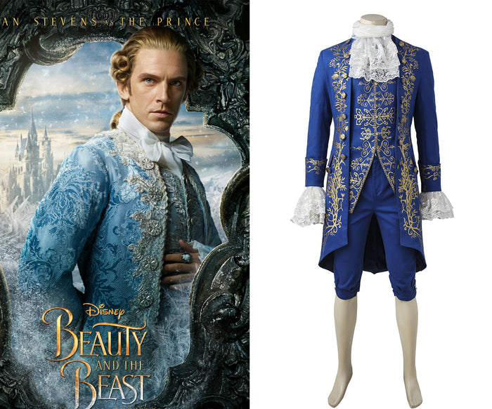 Disney Beauty and the Beast Prince Adam Cosplay Costume Adult Men Full Set for Halloween Carnival