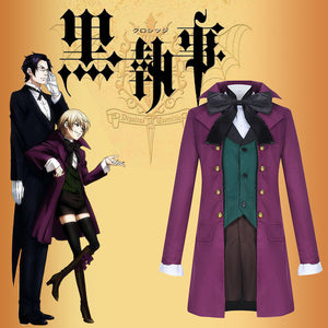 Black Butler 2 Kuroshitsuji Alois Trancy Cosplay Costume Full Set Adult Men Outfit Halloween Carnival
