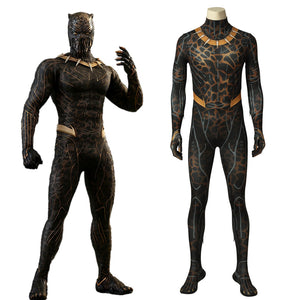 Marvel Movie Black Panther Erik Stevens Battle Jumpsuit Cosplay Costume for Halloween Carnival