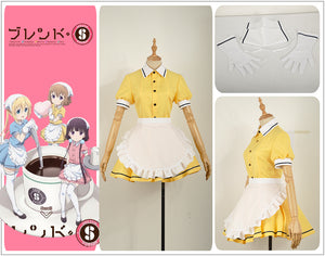Blend S Burendo Esu Mafuyu Hoshikawa Women Skirt Lady Apron Maid Servant Cosplay Costume