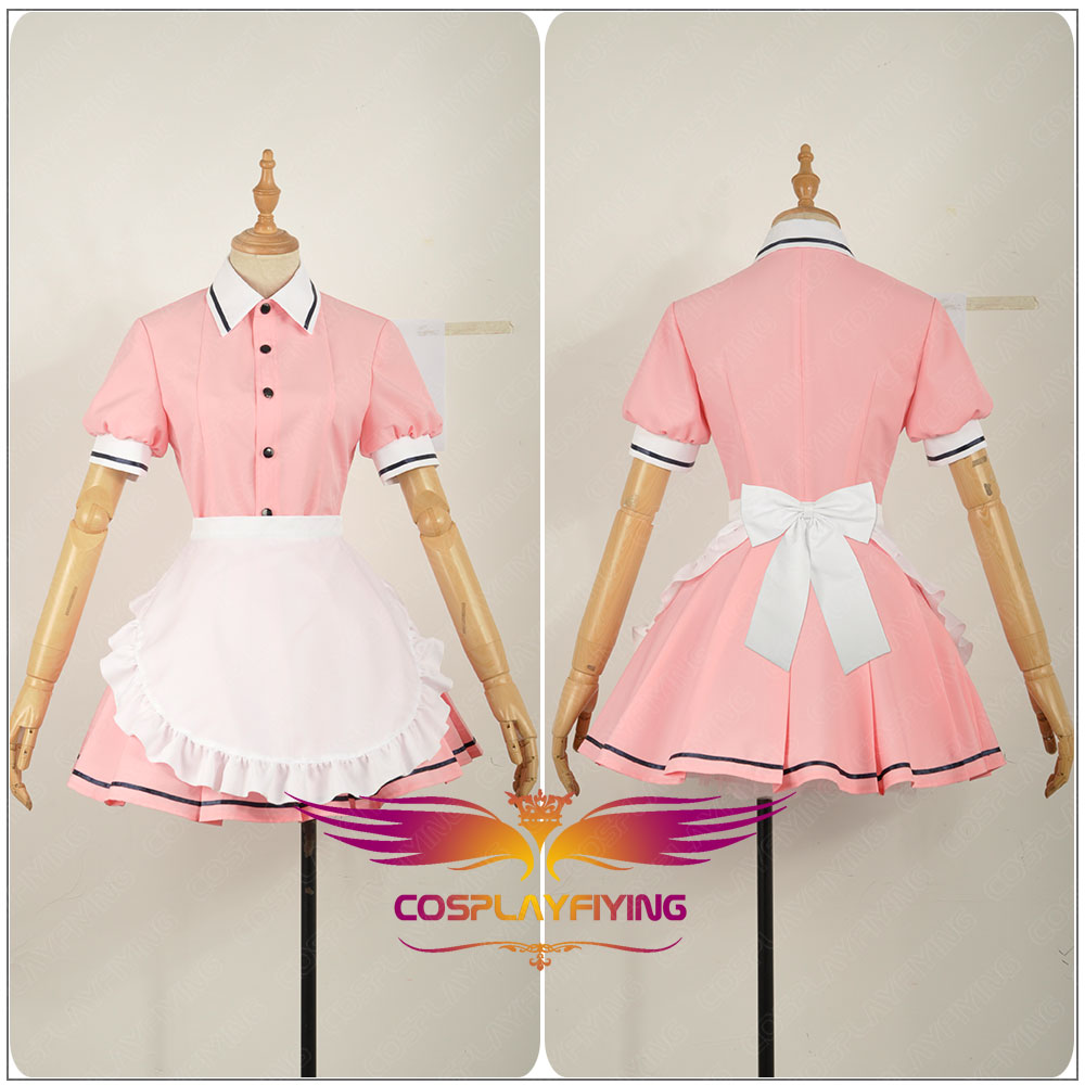 Blend S Sakuranomiya Maika Lady Apron Maid Servant Cosplay Costume Adult Dress