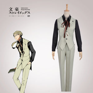 Bungo Stray Dogs Cosplay Doppo Kunikida Cosplay Costume Men Outfit Full Set
