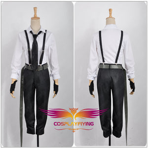 Bungo Stray Dogs Nakajima Atsushi Cosplay Costume Adult Men Overalls Outfit Clothing Halloween