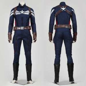 Captain America 2: The Winter Soldier Steve Rogers Cosplay Costume Version B for Halloween Carnival