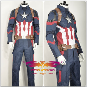 Captain America 2: Winter Soldier Avengers Steve Rogers Cosplay Costume for Halloween Carnival