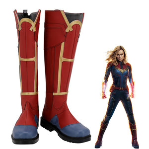 Captain Marvel Carol Danvers Cosplay Shoes Boots Custom Made for Adult Men and Women