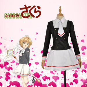 Card Captor Sakura Kinomoto Sakura Cosplay Costume Full Set Outfit