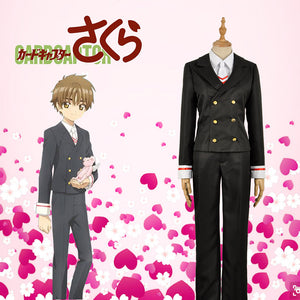 Card Captor Sakura Li Syaoran Cosplay Costume Custom Made Outfit Clothing For Adult Top Jacket Shirt Pants Mens Uniform
