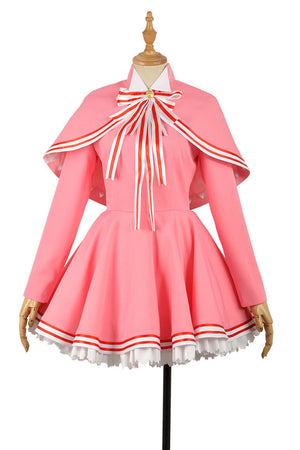 Cardcaptor Sakura Clear Card Cosplay Costume Sakura Pink Cosplay Sweet Lolita Dress New Cosplay Costume Outfit Adult Clothing