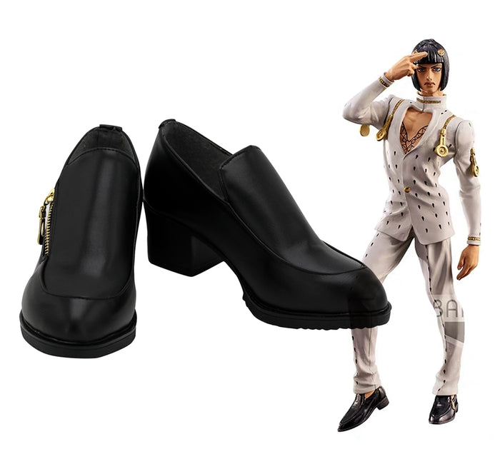 Comics Anime JoJo's Bizarre Adventure Bruno Bucciarati Cosplay Shoes Boots Custom Made for Adult Men and Women Halloween Carnival