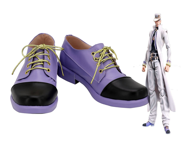 Comics Anime JoJo's Bizarre Adventure Kujo Jotaro Cosplay Shoes Boots Custom Made for Adult Men and Women Halloween Carnival