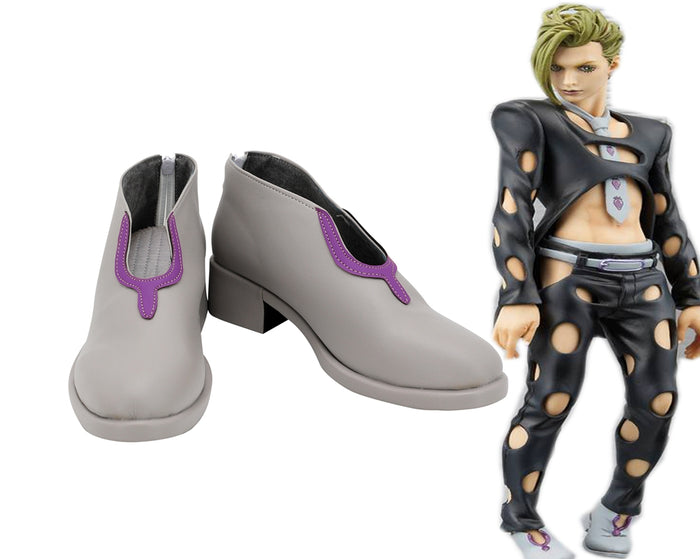Comics Anime JoJo's Bizarre Adventure Pannacotta Fugo Cosplay Shoes Boots Custom Made for Adult Men and Women Halloween Carnival Version B