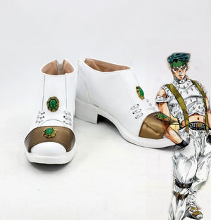 Comics Anime JoJo's Bizarre Adventure Rohan Kishibe Cosplay Shoes Boots Custom Made for Adult Men and Women Halloween Carnival