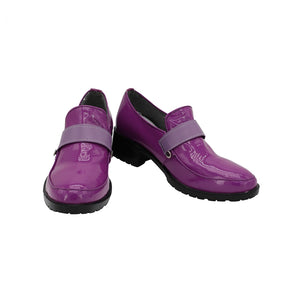 Comics JoJo's Bizarre Adventure Caesar Anthonio Zeppeli Purple Cosplay Shoes Boots Custom Made for Adult Men and Women Halloween Carnival