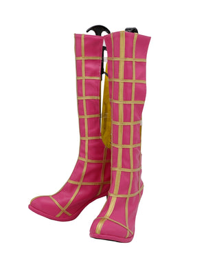 Comics JoJo's Bizarre Adventure Spice Girl Trish Una Pink Cosplay Shoes Boots Custom Made for Adult Men and Women Halloween Carnival