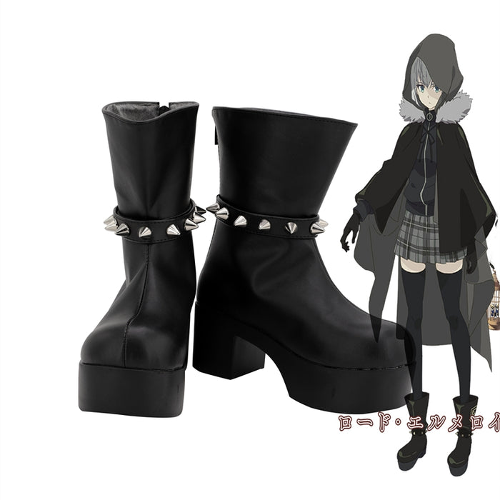 Comics Lord El-Melloi II Case Files Gray Cosplay Shoes Boots Custom Made for Adult Men and Women Halloween Carnival