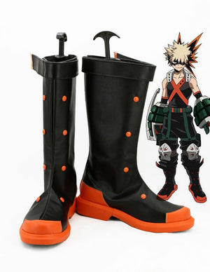 Comics My Hero Academia Bakugo Katsuki Cosplay Shoes Boots Custom Made for Adult Men and Women Halloween Carnival