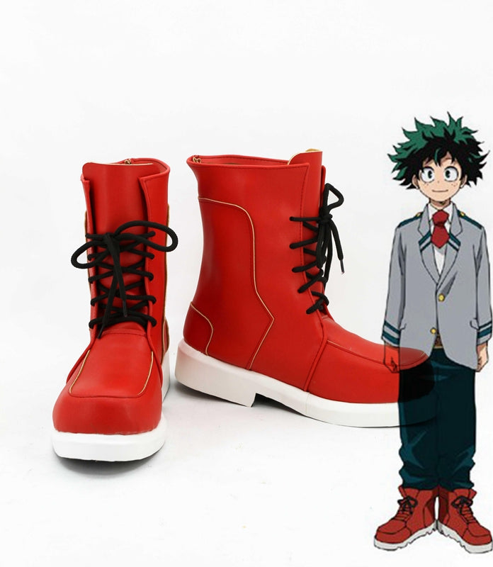Comics My Hero Academia Deku Midoriya Izuku Cosplay Shoes Boots Custom Made for Adult Men and Women Halloween Carnival