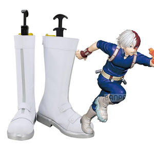 Comics My Hero Academia Todoroki Shoto Cosplay Shoes Boots Custom Made for Adult Men and Women Halloween Carnival Version B