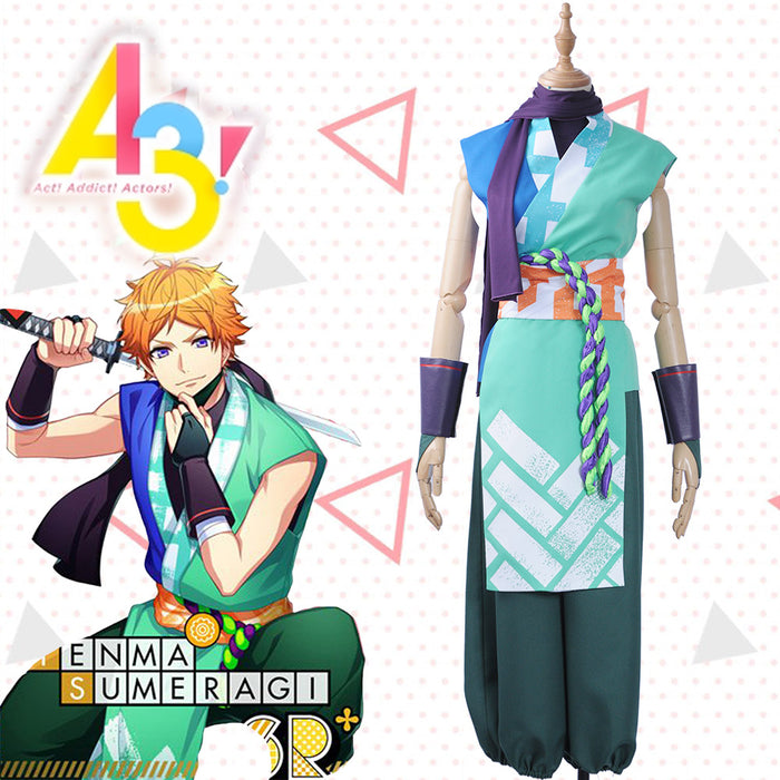 Game A3 Sumeragi Tenma Cosplay Costume Full Set Adult Male Outfit