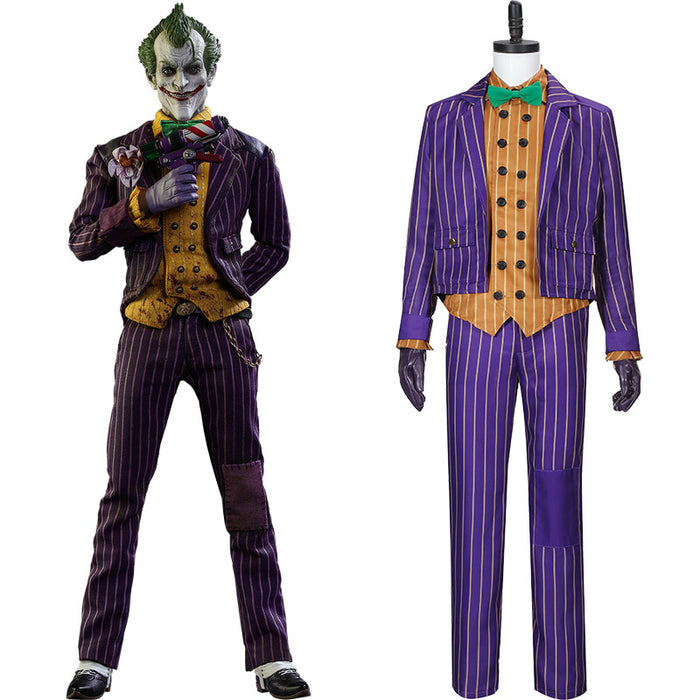 DC Comics Game Batman: Arkham Knight Joker Cosplay Costume Custom Made Full Set Outfit For Halloween Carnival
