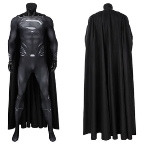 DC Movie Justice League Superman Clark Kent Jumpsuit Cosplay Costume for Halloween Carnival Simple Version