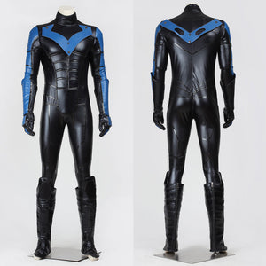 DC Batman Arkham City Nightwing Men Women Jumpsuit Cosplay Costume for Halloween Carnival