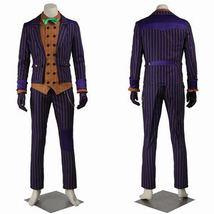 DC Comics Arkham Knight Joker Cosplay Costume Version B for Halloween Carnival