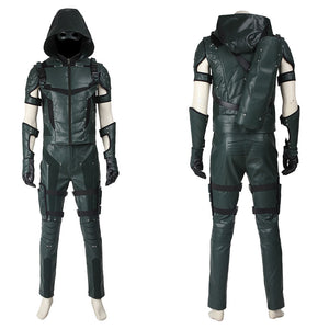 DC Comics Arrow Season 4 Green Arrow Oliver Queen Cosplay Costume for Halloween Carnival