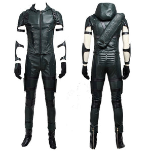 DC Comics Arrow Season 4 Green Arrow Oliver Queen Version B Cosplay Costume for Halloween Carnival