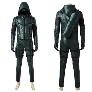 DC Comics Arrow Season 5 Green Arrow Oliver Queen Cosplay Costume for Halloween Carnival
