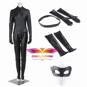 DC Comics Batman 3: The Dark Knight Rises Catwoman Selina Kyle Cosplay Costume for Halloween Carnival