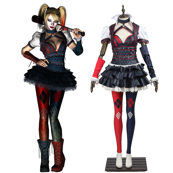 DC Comics Batman Arkham Knight Harley Quinn Suicide Squad Adult Women Cosplay Costume for Halloween Carnival