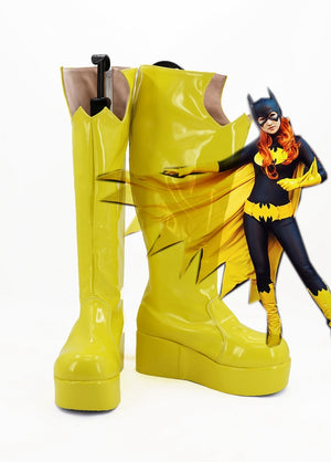 DC Comics Batman Batgirl Cosplay Shoes Boots Custom Made for Adult Men and Women