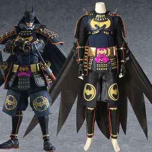 DC Comics Batman Ninja Bruce Wayne Cosplay Costume Full Set for Halloween Carnival