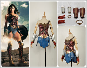 DC Comics Justice League Wonder Woman Diana Adult Cosplay Costume New Version
