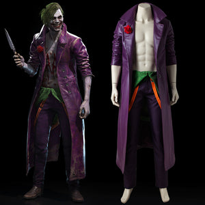 DC Comics Injustice 2 Joker Cosplay Costume Full Set Custom Made for Halloween Carnival