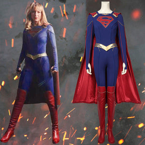 DC Comics Supergirl Kara Zor -El Jumpsuit for Adult Women Halloween Carnival