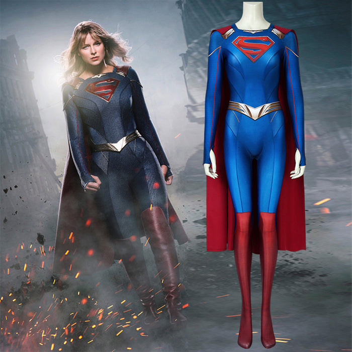 DC Comics Supergirl Season 5 Kara Zor-el Bodysuit 3D Print Jumpsuit for Carnival Halloween
