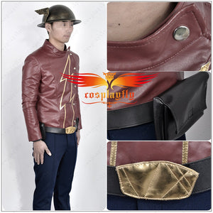 DC Comics The Flash Season 2 Jay Garrick PU Clothing Cosplay Costume For Silver Kettle Helmet Custom Made