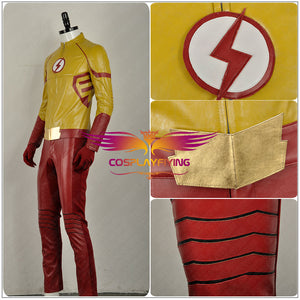 DC Comics The Flash Season 3 Wally West II Kid Flash Cosplay Costume Outfit Uniform For Adult with Mask