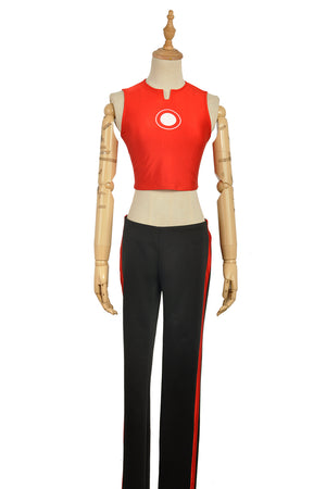 DC Comics The Invincible Iron Man Riri Williams Red Cosplay Costume Custom Made Top Coat Only with Pants