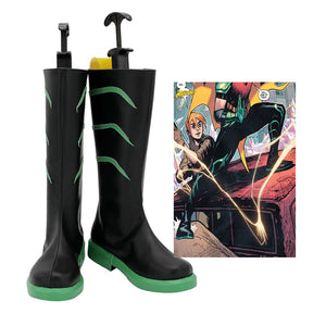 DC Comics Young Justice Red Robin Tim Drake Cosplay Shoes Boots Custom Made for Adult Men and Women