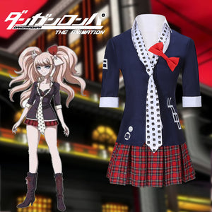 Danganronpa Dangan Ronpa Enoshima Junko 8bit Tie Uniform Sailor Suit Cosplay Costume Halloween Carnival