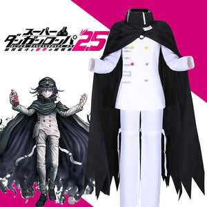 Danganronpa V3: Killing Harmony Ouma Kokichi Cosplay Costume White Uniform With Cloak