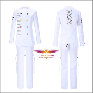 Danganronpa V3: Killing Harmony Ouma Kokichi Danganronpa Cosplay Costume Super DanganRonpa White Uniform