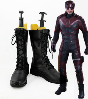 Daredevil Matt Murdock Cosplay Shoes Boots Custom Made for Adult Men and Women